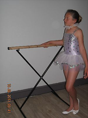 Portable Black Ballet Barre Adjustable Folds Dance Exercise Bar Child Adult BNWT