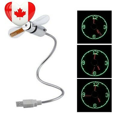 ArtMark Awesome Cool USB Mini Fan with LED Light Clock Time Display...