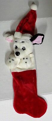 Vintage Disney 101 Dalmatians Plush Christmas Stocking
