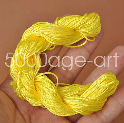 1mm 28meter yellow Nylon Cord Thread Braid String  Chinese Knot Bracelet