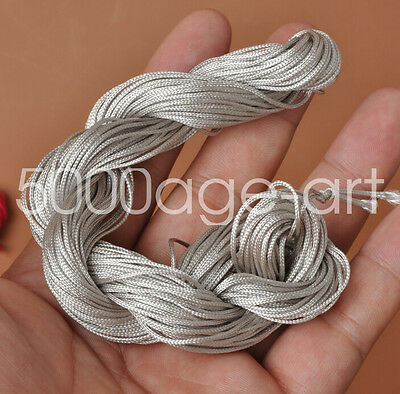 1mm 28meters gray Nylon Cord Thread Braid String  Chinese Knot Bracelet