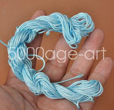 1mm 28meter light blue Nylon Cord Thread Braid String  Chinese Knot Bracelet