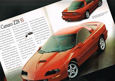 1996 Chevy CAMARO Z28 / SS Only Brochure / Pamphlet: SLP Engineering,Z-28...NOS!