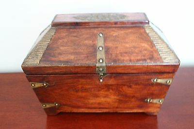 Antique Wooden Tea Caddy 18th or 19th Century