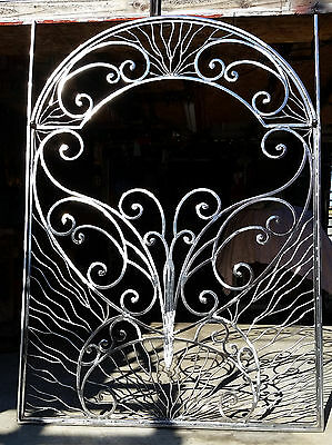 Hand Made Wrought Iron Steel Butterfly Garden Gate - Totally Unique Piece