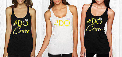 I Do rhinestone tank top Bachelorette , rhinestone tank top for Bridesmaid, I do