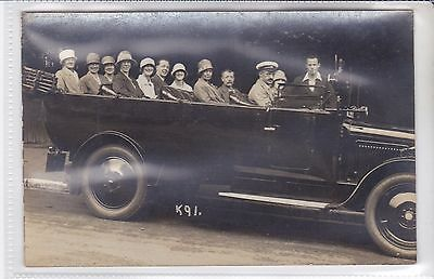 Wickenden Photographers Postcard Charabanc Outing Ventnor, Isle of wight