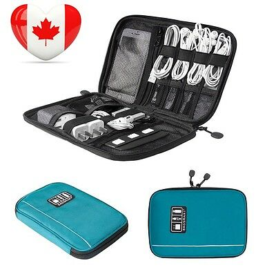 BAGSMART Travel Cable Organizer Electronic Accessories Case Blue