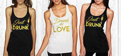 Drunk in love Bachelorette rhinestone tank top,,Bridal party shirts, Bridesmaid