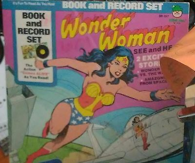 wonder woman vintage 1960s book and record set very rare