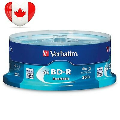 Verbatim BD R 25GB 6X with Branded Surface 25pk Spindle Box 97457