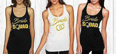 Bride Squad bridesmaid tank top , Rhinestone diamond tank, Bridesmaid Tanks