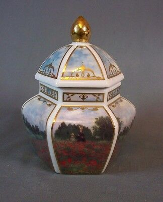 Goebel Artis Orbis Claude Monet Poppies Lidded Jar