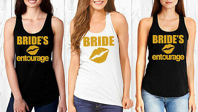 Bride's Entourage Bachelorette Party Shirts Bridesmaid Tanks Bridal Shower Gift