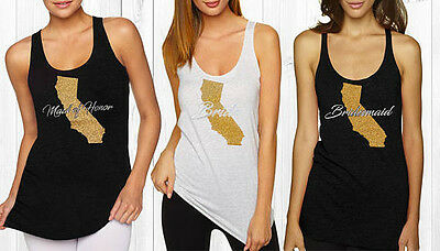 Bride-To-Be Tank, State Tank Top, Rhinestone bride, Maid of Honor, BRIDE-TO-BE