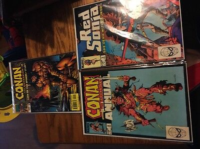 3 Marvel Comics Featuring Conan And Red Sonja