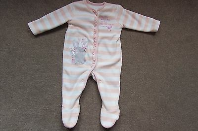 Baby Girls All in One Sleep suit Embroidered Bunnies age 3-6 months