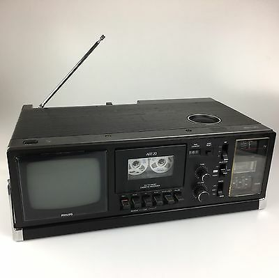 Vintage Retro PHILIPS TV Radio Cassette Recorder - ART 20 - RARE - Made In Japan