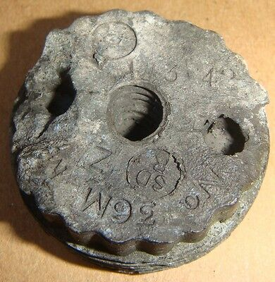 ww2 1942 dated 3/42 no.36 mills bomb (grenade) base plug recovered used genuine