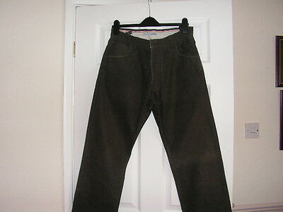 Fat Face Men's Brown Cotton Trousers Size 34L.