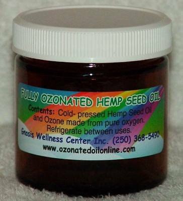 Fully Ozonated Hemp Seed Oil m/from pure oxygen 50ml / 1.7 oz