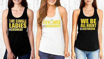 Feyonce' bridesmaid tank, crystal, Drunk in Lov, We be all night rhinestone tank