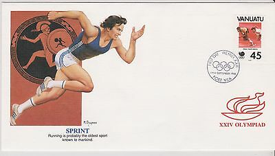 Vanuata First Day Cover - XXIV Olympiad, Seoul - Sprint - 1988 (328) (X)