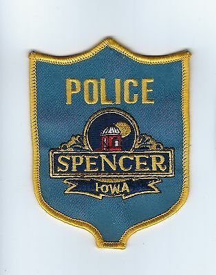 Spencer (Clay County) IA Iowa Police Dept. patch - NEW! *Cloth Back*