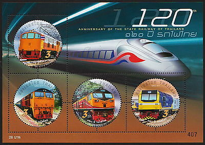 120th Anniversary of the State Railway of Thailand Souvenir Sheet 26.3.2017
