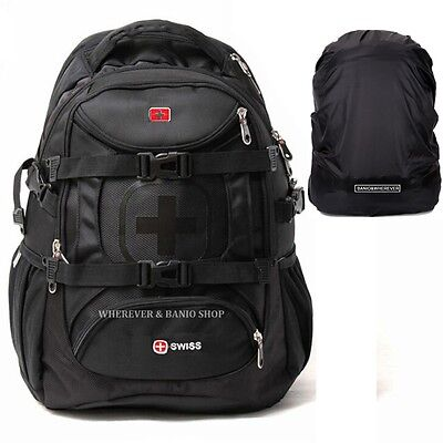 Swiss Travel Men 15.6 Laptop Backpack Waterproof School Bag Outdoor Rucksack 215