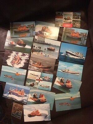 Postcard Collection RNLI Lifeboats (17 Items)