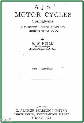 AJS Model 20 500 and Model 30 600 Springtwin Workshop Manual 1949-55 *NEW