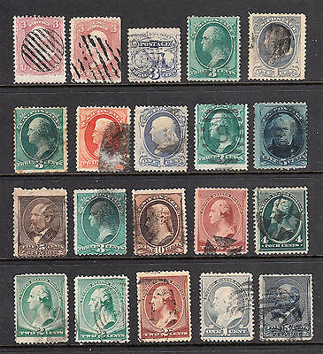 Us 19Th Century Stamps Banknote Issues $130 Value