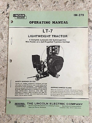 Lincoln welder LT-7 operating manual