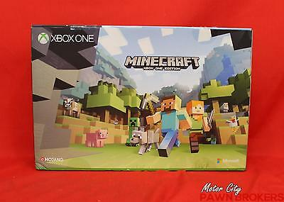 Microsoft Xbox One (1681) 500GB, MineCraft Edition, Video Gaming Console NEW
