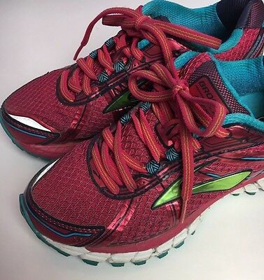 Brooks Adrenaline GTS-15 Women's Pink Running Shoes Gym Workout Sneakers Sz 5