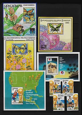Tuvalu - Four Expo Souvenir sheets + World Cup set, cat. $ 29.70