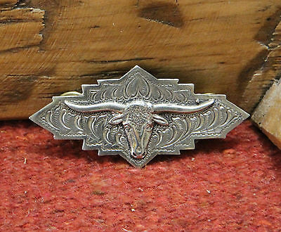 WHITE BRONZE Longhorn Brow Plate Cast From Vintage Original made by Bo Bonds