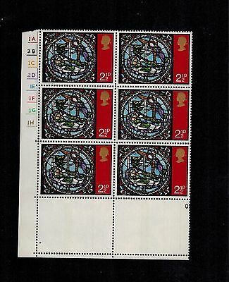SG894 RARE MAJOR ERROR MISSING ALL THE COLOURS ON 2 STAMPS  phosphor band shows