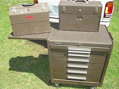 (3) pc. KENNEDY MACHINIST'S TOP & CHEST & DAYTON CANTILEVER TOOL BOX local p/u