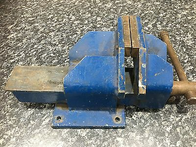 100mm offset workbench steel vice