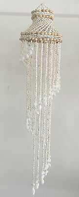 Shell Chandelier Small WHITE 500mm long ALSO in RED or PURPLE tip