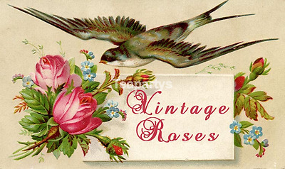 CUSTOM Vintage Roses Calling Card Ebay Compliant Auction Template