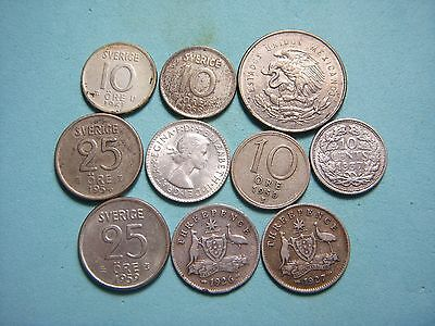 (10) World Silver Coin Lot