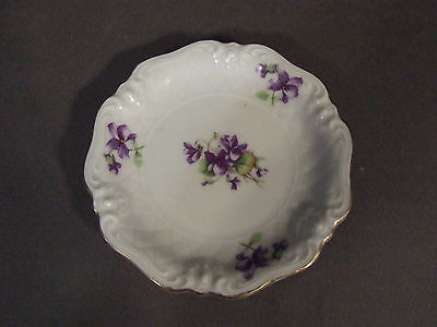 Royal Heidelberg Winterling Bavaria Violet Pattern Butter Pat Plate