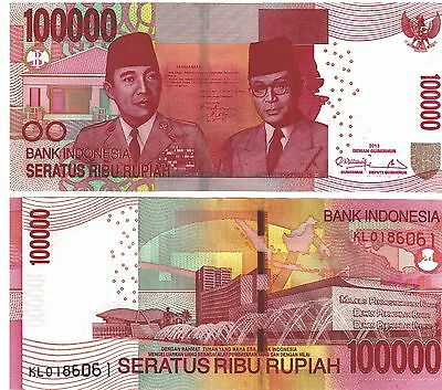 Indonesia Rupiah 100000 ( 100,000 ) X1 Uncirculated Banknote ( Indonesian )