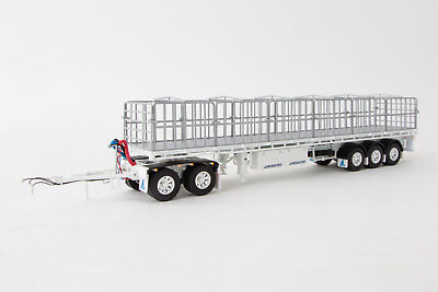 New Drake Maxitrans Freighter Road Train Trailer Set White 1:50 Replica ZT09138