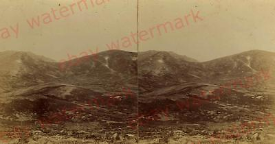 Antique Australian STEREO PHOTOGRAPH-'Kosciuszko Valley' Snowy Mountains- c1900s