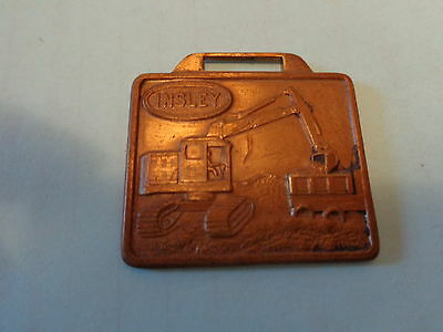 Insley Shovel Watch Fob Insley Mfg Co Indianapolis IN