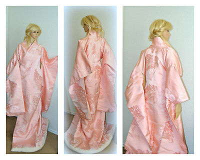Yoko Japanese Kimono, Silk Robe, Traditional Wedding Dress, Cape, Cherry Blossom